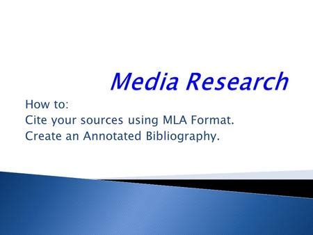 How to cite research papers in mla